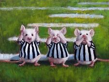 THREE BLIND MICE PRINT LUCIA HEFFERNAN funny animal humor novelty 12x9 poster