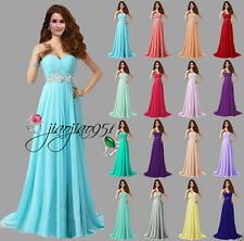 New STOCK Formal Long Wedding Bridesmaid Dress Prom Party Ball Evening Gown 6-18