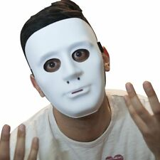 The Mask Biz White Theater Mask PVC Plane Party Costume Great Scary Exciting