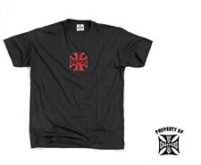 West Coast Choppers OG Cross Graphic Tee Black/Red Logo Short Sleeve 100% Cotton