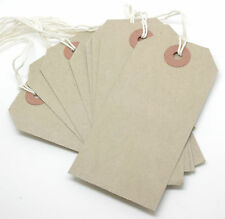 All Sizes - Manilla Brown Buff Strung Tags Hardware Labels Retail Luggage