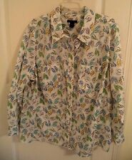 Womens Westbound Blouse Shirt Top Size 20W Multi Color Flip Flops 3/4 Sleeve