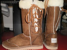 Mens Chestnut Lace up Ugg boot wool blend