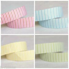 5yds~~16mm Stripe White Grosgrain Ribbon 4 Colors U PICK