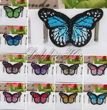 Girl Kid Baby Embroidered Patch Butterfly Cloth DIY Iron Sew On Craft Applique