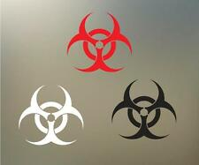 "(2) 5.5"" BIOHAZARD vinyl Decal sticker any size color surface car  RC PHONE S029"