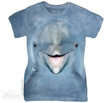 Dolphin Face The Mountain Women Ladies Size T-Shirts