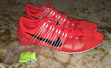 NEW Mens 13 NIKE Zoom Victory 2 Br Crimson Black Mid Distance Track Spikes Shoes