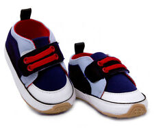 Toddler Baby boys  First shoes soft Rubber soles crib shoes Size 0-18 months