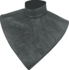 100% Leather Fleece Lined Motorcycle Neck Warmer - One Size Fits Most