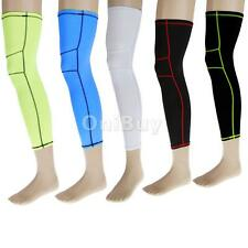 Basketball Sports Compression Leg Knee Calf Brace Long Sleeve Protect Wrap M-XL