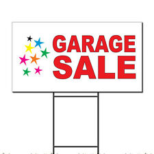 Garage Sale Red Corrugated Plastic Yard Sign /Free Stakes