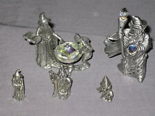 Decorative Wizard Pewter Figurines Fantasy Crystal Collectible NEW!