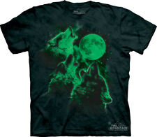 Glow Wolf Moon The Mountain Adult Size T-Shirt