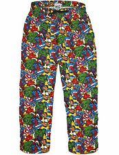 Marvel Men's Spiderman Hulk Iron Man Captain America Pyjama Bottoms Trousers