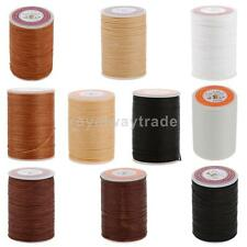 Round Waxed Line Cord Leather Craft Sewing String Thread Line 0.6/0.55mm 5 Color