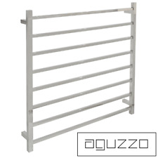 Heated Towel Rail Square Tube (W900mmxH920mm) Polished Stainless Steel