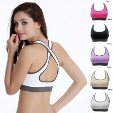 Women Stretch Cotton Seamless Yoga Athletic Bras Tops Gym Running Fitness Vest