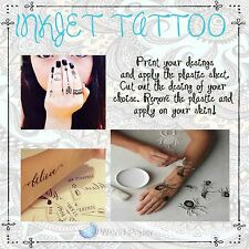 "Tattoo Paper-Inkjet-Make Your Own Temporary Body Art Tattoo 8.5"" x 11"" :)"