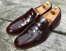 Tod's Penny Loafer Burgundy Size 8 Uk Shoes