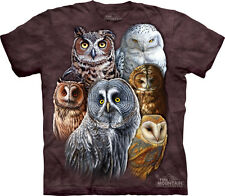 Owls The Mountain Adult Size T-Shirt