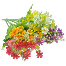 Color 1 Bunch Artificial Fake Daisy Flower Bouquet Home Wedding Party Decoration