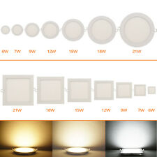 Ultraslim 6W-21W Dimmable CREE LED Recessed Ceiling Panel Down Light Bulb Lamp