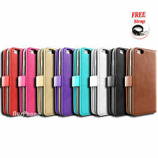 Leather Magnetic Wallet Flip Card Slot Case Cover for Apple iPhone 6S 6 6S Plus