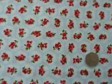 Roses Fabric 100% Cotton Poplin Retro Vintage Floral Dressmaking By the Metre