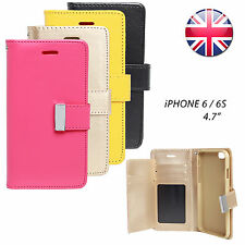 For Apple iPhone 6 6s Magnetic Flip Pu Leather Wallet Cards Phone Case Cover