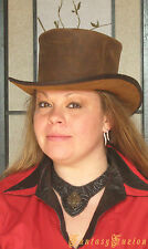 Steampunk Hat Victorian Leather Standard Top Hat #2