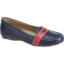 NEW Womens SEBAGO Navy / Red Leather MERIDEN PENNY Boat Shoes B409095
