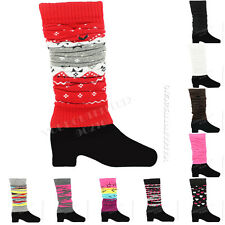 Leg Warmers Women's Socks Pair Legging Winter Fashion 10 Colors Knee High Ladies