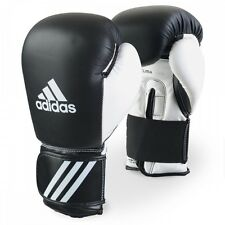 New adidas Boxing Leather Gloves MMA Muay Thai Kick Boxing Sparring Gloves