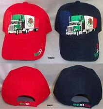 """ Mexico "" Embroidered Baseball Caps Semi-Truck 1Pc Wholesale 6 Pcs  (EGCapMx14#"