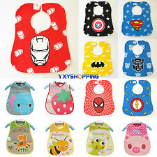 Baby Kids Toddler Infant Cute Boys Girls Bibs Waterproof Saliva Towel Feeding