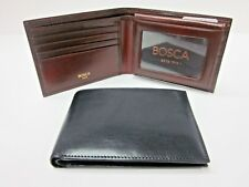 Bosca Old Leather Mens Billfold Wallet w/ Removable ID Passcase 195