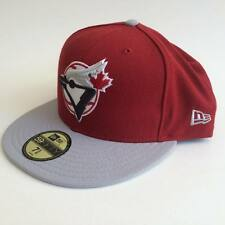 New Era Toronto Blue Jays Burgundy Gray 59FIFTY Fitted Hat NWT