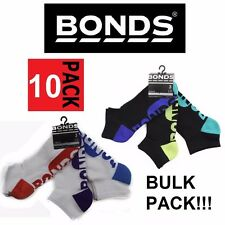 10 PACK LOW CUT SOCKS Mens Bonds Pairs Active Light Sports Gym Ankle 6-10 11-14