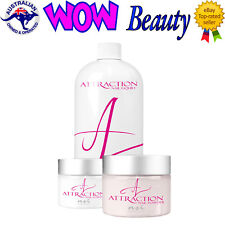 NSI Attraction Acrylic Nails Liquid + 2 x 40g Powders + Free Gift