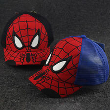 Chirldren Spiderman Snapback Baseball Cap Girls Boys Hip Pop Adjustable Sun Hat