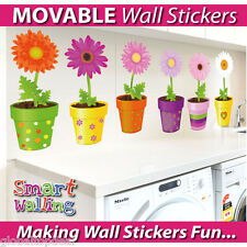 Flower Pot Wall Stickers Movable Art Wall Sticker Decal Mural Home Room Decor