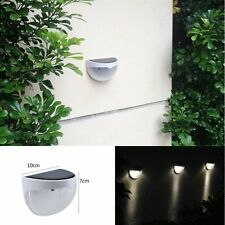 Warm white Solar Powered 6 LED Light Gutter Fence Wall Outdoor Garden Yard Lamp
