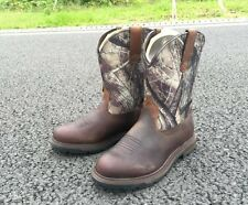Ariat Mens Groundbreaker Camo Pull-On Brown Work Boots 10014245 NIB