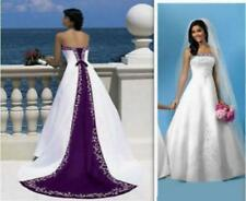 New Embroidery Beads Train Button Wedding Dress 2 4 6 8 10 12 14 16 18 Customize