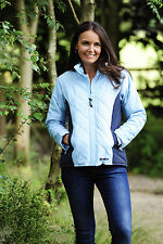 Ladies Fitted Diamond Quilted Equestrian Riding Jacket With Contrasting Panels