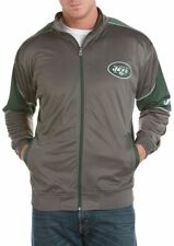 New York Jets Mens Full Zip Tricot Charcoal Track Jacket Big & Tall Sizes