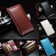 Luxury Magnetic Leather Wallet Card Photo Slot Case Cover For HTC Desire Series