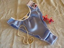 BLUEBELL shiny SATIN panties FRILLY fluted knickers 6 sizes new  Made in France
