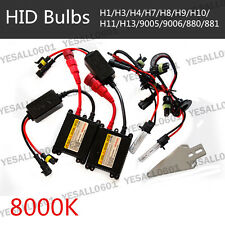 Xenon HID Kit White 8000K Bulbs 55W AC Slim Ballast Fog Drive Headlight